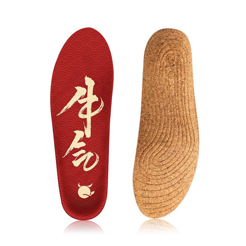 Senthmetic Cork Insoles for Sweaty Feet Arch Support Shoe Pads