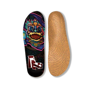 Senthmetic Breathable, Deodorant, Shock-absorbing Sports Insole Dancing Lion elements Insert