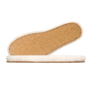 Senthmetic Merino Wool Felt Insoles Warm Lambswool Footbeds for Boots