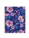 Midnight Floral Spiral Notebook