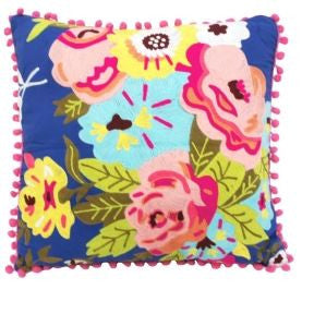 Blossom Embroidered Cushion