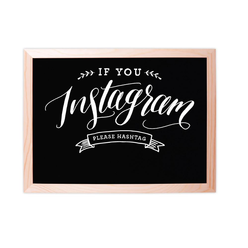 Instagram Chalkboard Sign || Wedding