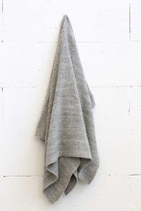 Curly Grey Baby Throw