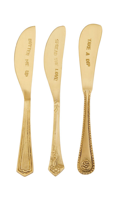 Embossed Spreader Set of 3