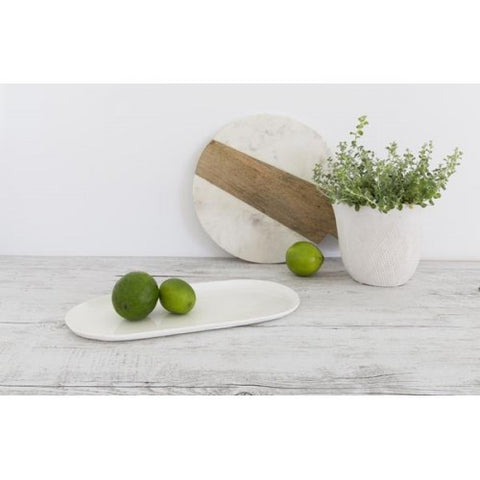 Flax Oval Plate || Linen