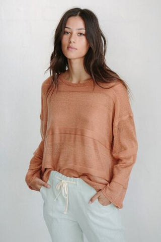 Frankie Stripe Knit Rust