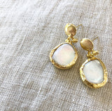 Pearl + Gold Inartisan Earrings