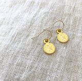 Gold Plated Coin Earring