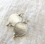 Bent Coin Earring