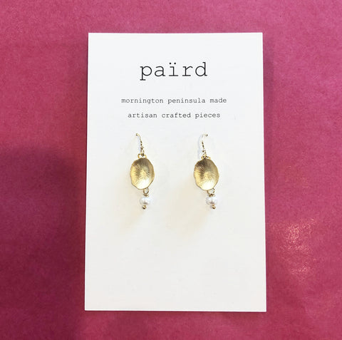 Domed Water Lily Earrings