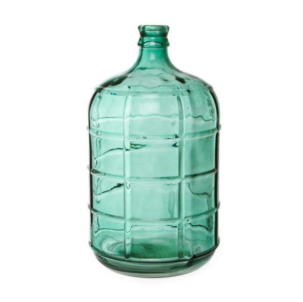 Glass Village Bottle || Blue