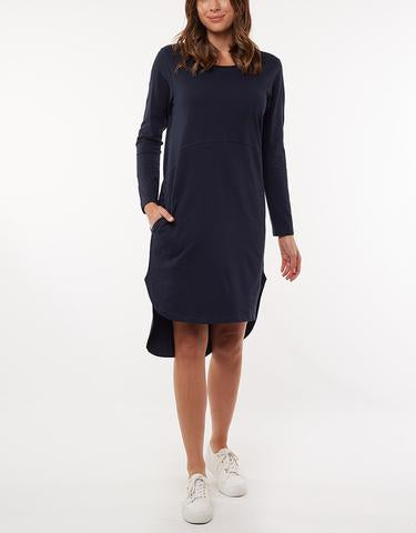 Bay Long Sleeve Dress Navy