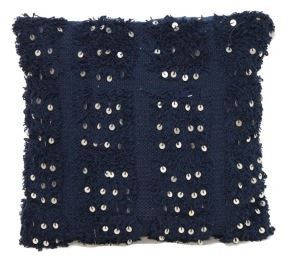 Navy Moroccan Cushion
