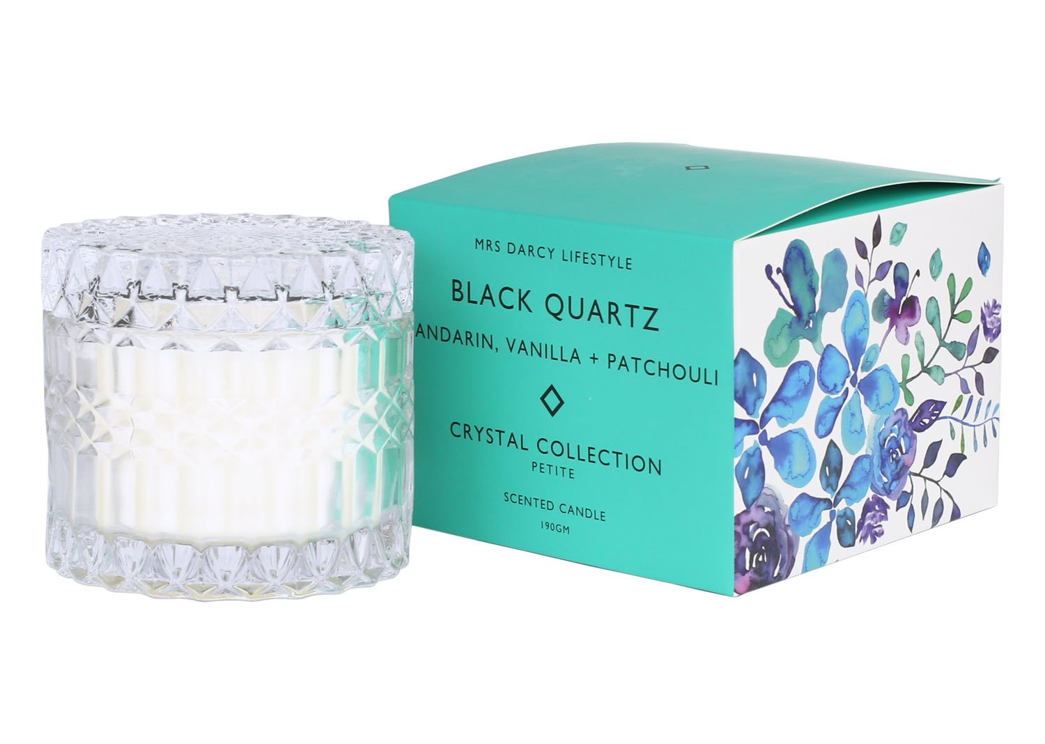 Crystal Candle Collection || Black Quartz Petite
