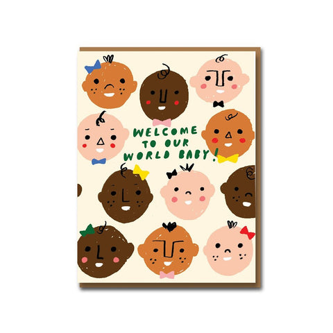 Welcome To Our World Card