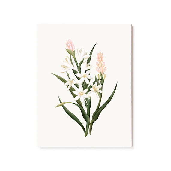 Scented Card || Tuberose