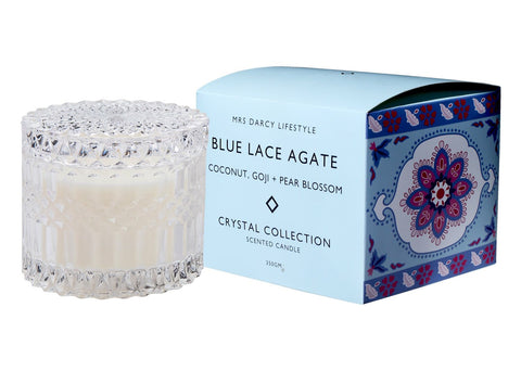 Candle Crystal Series Blue Lace Agate