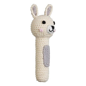 Bunny Cream Hand Rattle