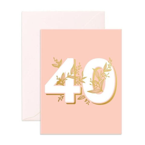 Floral 40 Birthday Card