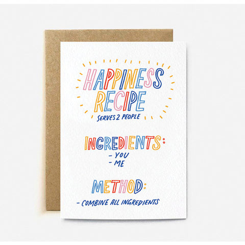 Happiness Recipe Card