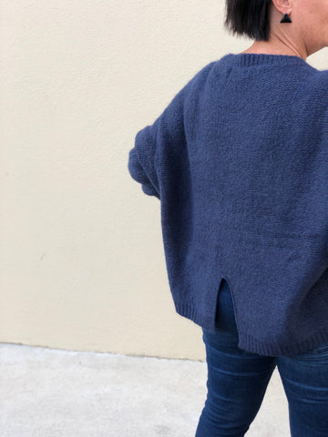 Boyfriend Knit Navy