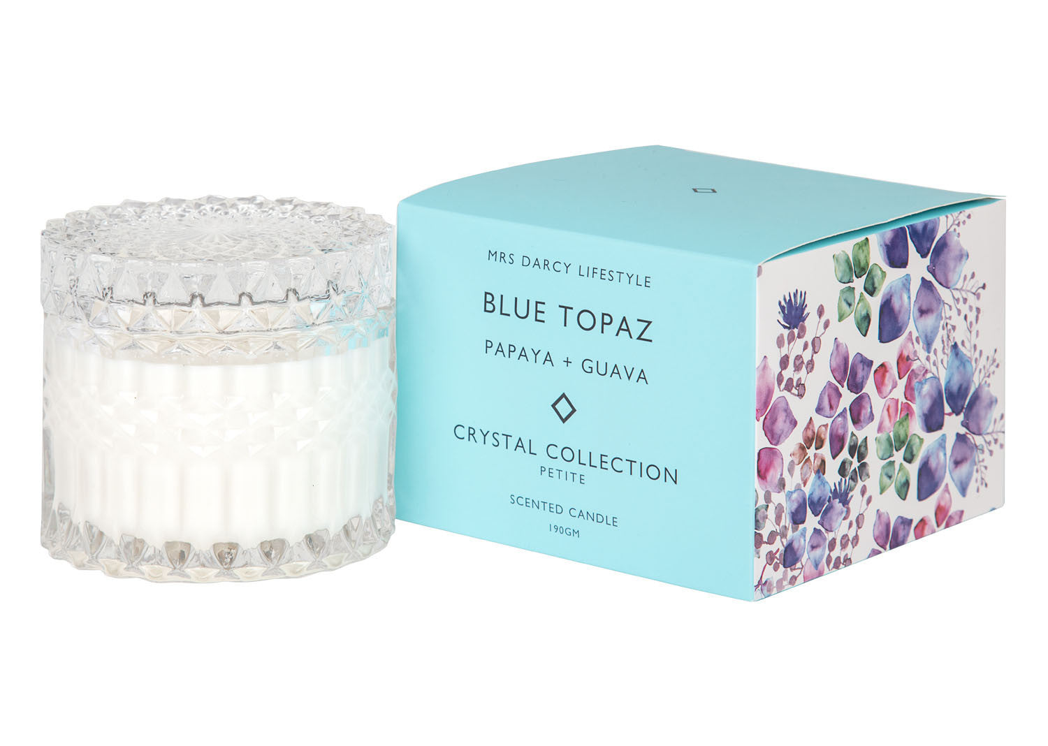 Crystal Candle Collection || Blue Topaz Petite