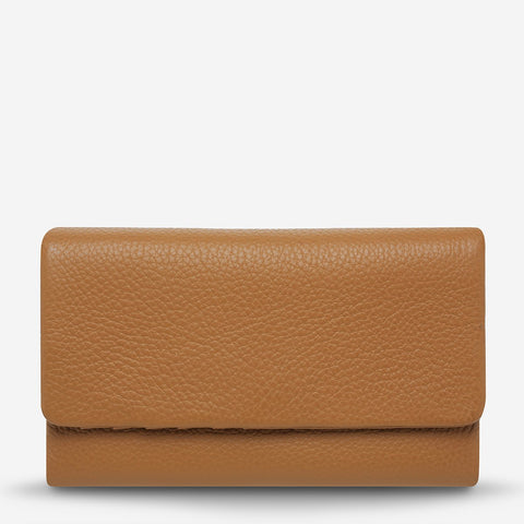 Audrey Wallet Tan Pebble