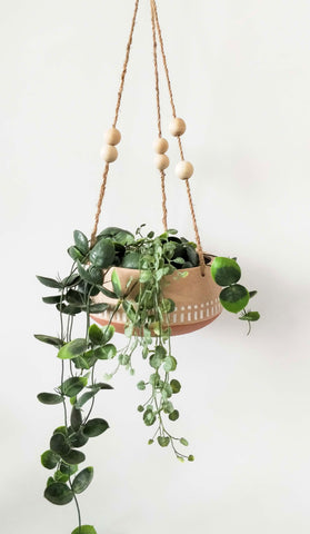Kyra Hanging Planter Terracotta