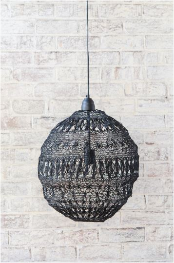 Wire Floral Ball Chandelier