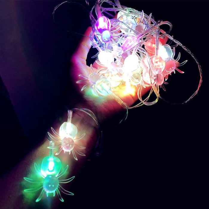 LED Halloween Light String, Bedroom Living Room Decor, Spider Style Holiday Lighting - Glow Gravity