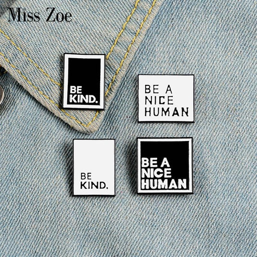 Enamel Pins Custom Simple Black White Brooches Lapel Pin Shirt Bag - Glow Gravity
