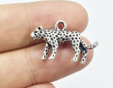 Eruifa 10pcs 15*25mm Pretty Leopard Zinc alloy Jewelry DIY Charms Pendant Necklace,Eearrings  2 Colors - Glow Gravity