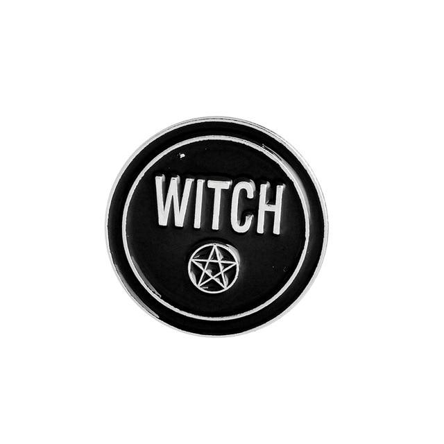 Black moon pins Badges Brooches Accessories - Glow Gravity