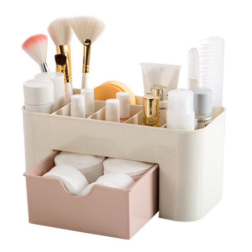 Organizer Box, Cosmetic Makeup,  Jewelry Holder Plastic, Box Home Desktop.