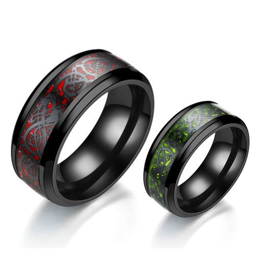 Stainless Steel Dragon Ring For Men - Glow Gravity
