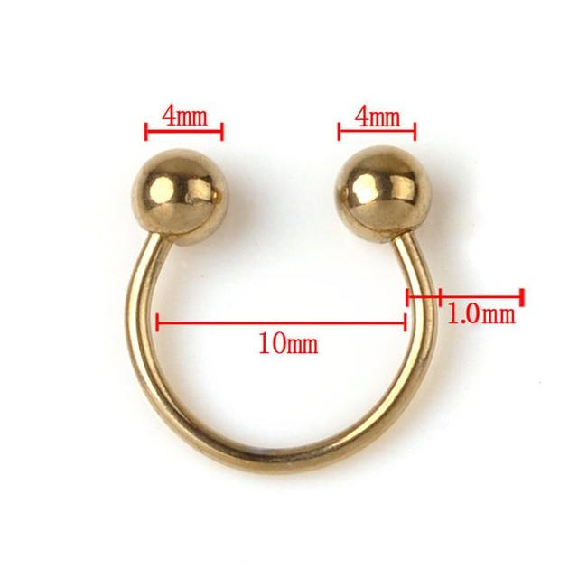 Horseshoe Circular Ring 5pcs Surgical Steel Labret  Nose Septum Eyebrow Piercing - Glow Gravity