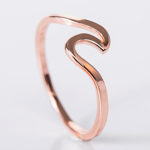 Fashion Simple Design Sea Wave Rings Ocea for Women - Glow Gravity