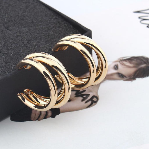 Trendy Fashion Metal Elegant Hoop Earring Woman - Glow Gravity