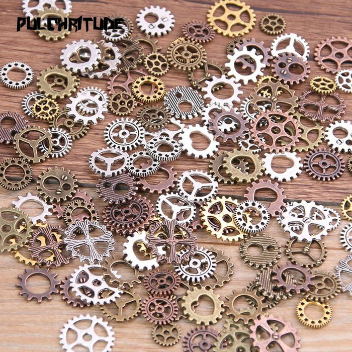 Mix Alloy Mechanical Steampunk Cogs & Gears Diy Accessories - Glow Gravity