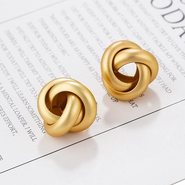 Gold Color Alloy Drop Earrings For Women Jewelry Trendy Accessories - Glow Gravity