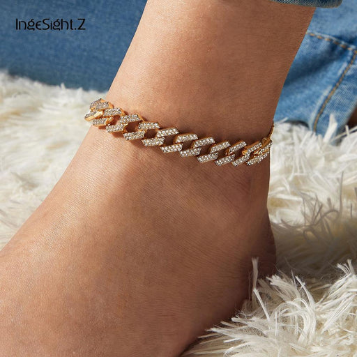 4 Colors Charm Luxury Shiny Rhinestone Anklet Bracelet - Glow Gravity