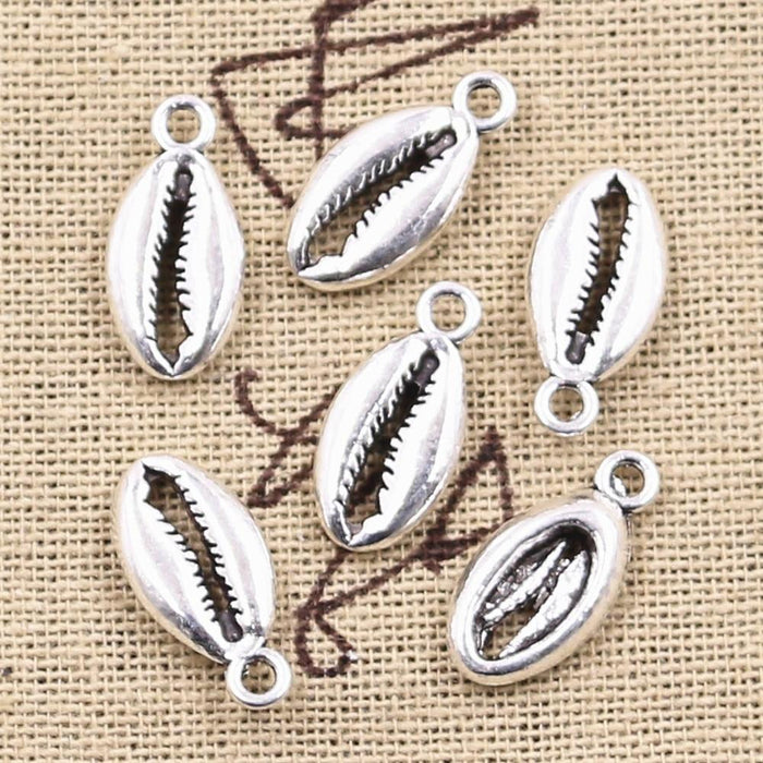 Charms Bohemian Cowrie Conch Shell Antique Silver Color Plated Pendant - Glow Gravity