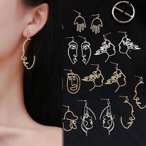Human Face Drop Earrings For Women - Glow Gravity