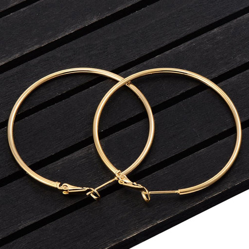 Exaggerate Big Smooth Circle Hoop Earrings - Glow Gravity
