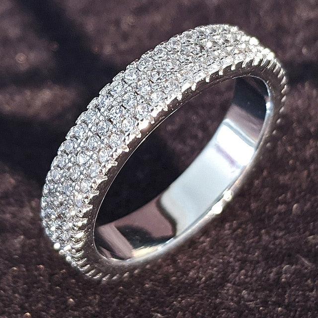 luxury sterling silver wedding ring for women - Glow Gravity