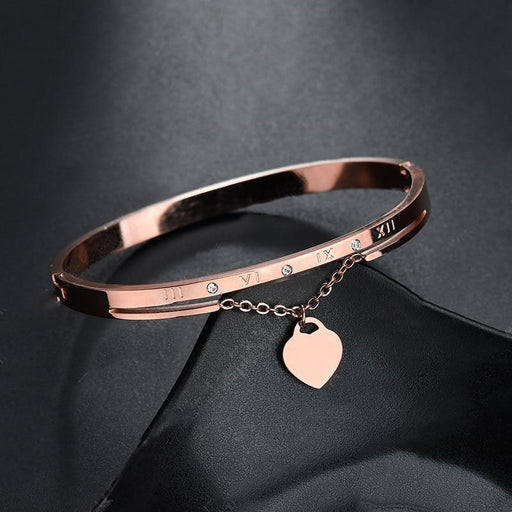 Hot Luxury Rose Gold Stainless Steel Bracelets Bangles - Glow Gravity