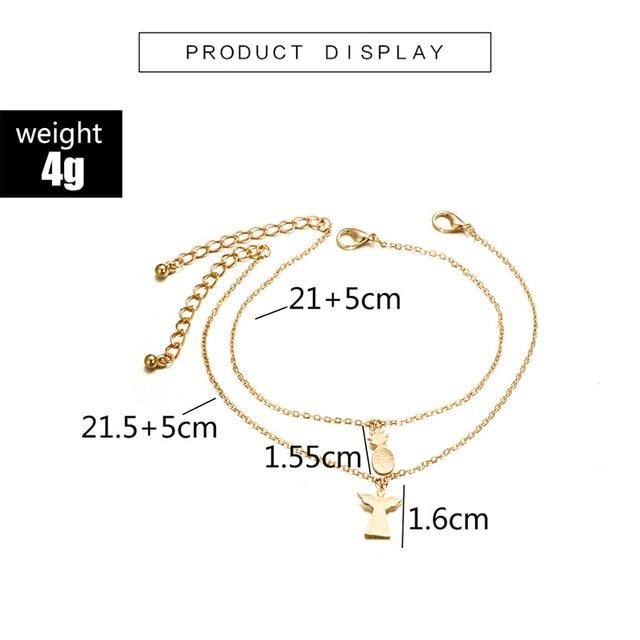 Round Beaded Bohemian Anklet For Women Accessories - Glow Gravity