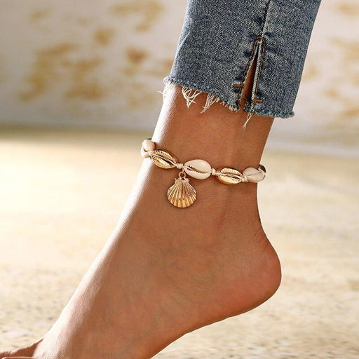 New Natural Shell Conch Rope Anklets For Women - Glow Gravity