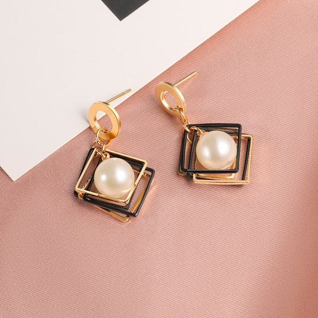 New Fashion Round Dangle Drop Korean Earrings For Women - Glow Gravity