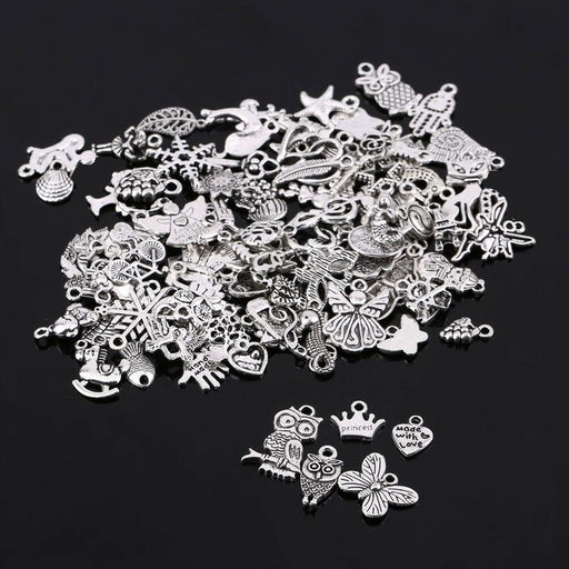 Random Mixed Tibtan Silver Beads Charms Pendants - Glow Gravity